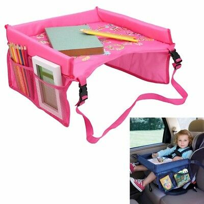 Kids Baby Car Seat Tray Snack Table Safety Waterproof Play Travel Drawing Board