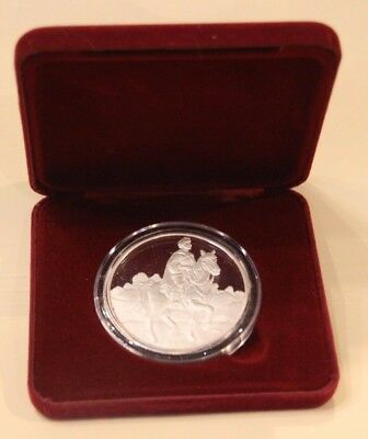 """""""Prince"""" Silver 5 oz Coin Snow White 50th Anniversary Proof New undisplayed."""