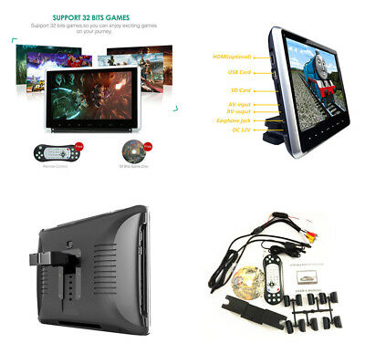 "11.6"" Car Monitor Headrest HD Car DVD Player Vedio Touch Button HDMI FM IR Game"
