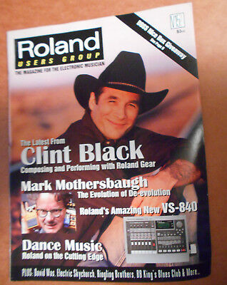 Roland Users Group magazine 1997 Clint Black Mark Mothersbaugh  BOSS David Was