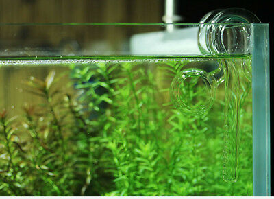 Aquarium plant tank mini nano  glass inflow outflow pipe for 9/12mm water hose