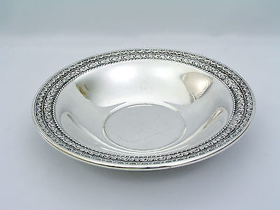 """Wallace Silverplate - 10"""" Bowl - Rose & Daisy Embossed Rim - #5110"""