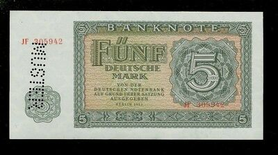 MUSTER Banknote 5 Mark 1955 Ro.349-M3 (l/I-)