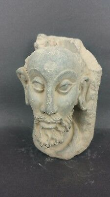 Ancient Gandhara/Gandharan Stone BEARDED HEAD 200 AD