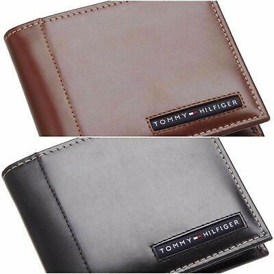 Authentic Tommy Hilfiger Men's Cambridge Leather Credit Card Billfold Wallets UK