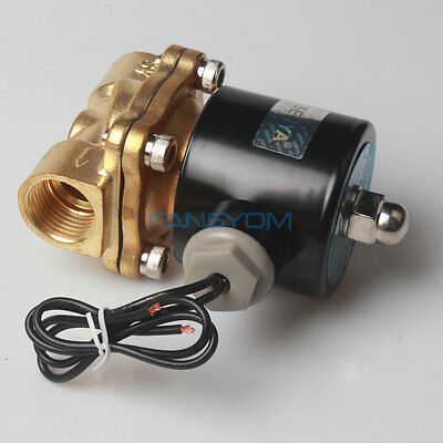 "-HU13 1/2"" Brass Electric Solenoid Valve 110V 120V AC Water Air Normally Closed"