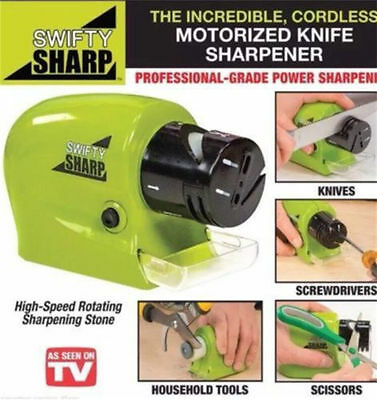 Electric Knife Sharpener Kitchen Knives Blades Drivers Swifty Cutlery Tool GB