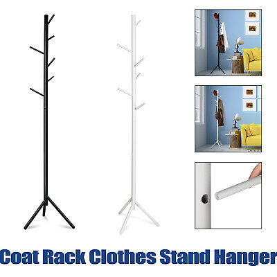 Beech Wood Coat Rack Clothes Stand Hanger Six Branch Angle Modern 176cm Durable