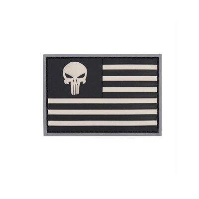 USA Punisher Patch 3D Rubber Amerika Navy Army Military US Fahne 5x7cm #22983