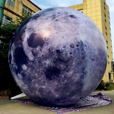 Giant Inflatable Moon Ball w/ LED Light Inflatable Planet Balloon For Advertise