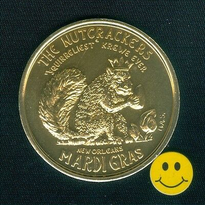 SQUIRREL - New Orleans Mardi Gras Doubloon Token ( H.A.S. ) 1968