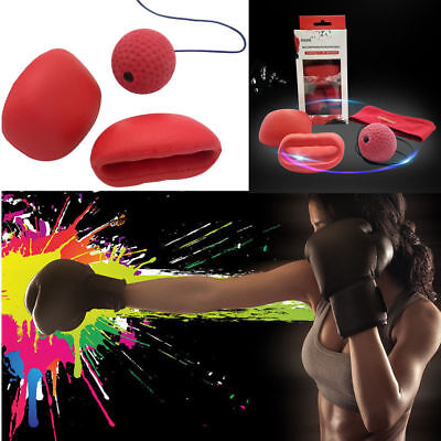 mcml Boxing Punch Exercise Fight Ball With Head Band Reflex Speed Training UK