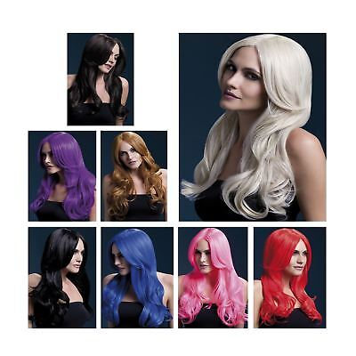 Adult Ladies Deluxe Fever Khloe Long Wavy Wig Professional Fancy Dress Accessory