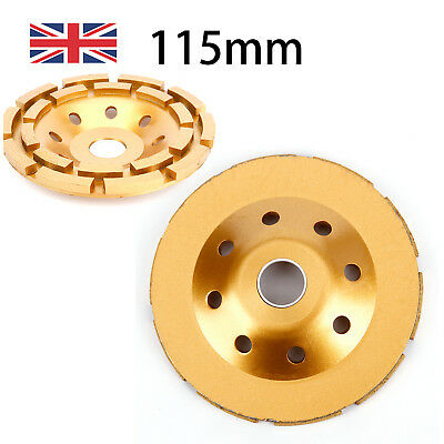 """115 mm 5"""" Diamond Grinding Cup Wheel Stone Marble Concrete Sanding Disc Gold"""