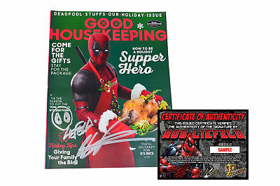 Good Housekeeping DEADPOOL 2 Movie Magazine - SIGNED BY ROB LIEFELD + REMARQUE