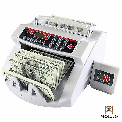 Money Cash Counting Bill Counter Bank Counterfeit Detector UV & MG Machine