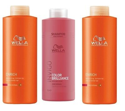 Wella Brilliance Enrich Shampoo Schampoo Tick Fine Normal Colored Hair 1000 Ml