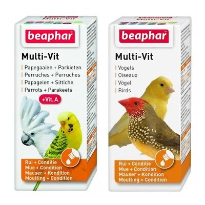 Beaphar Caged Aviary Bird Multi Vitamin Drops with 12 Vitamins 20ml