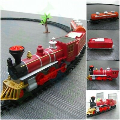 Electric Railway Train Toys Classical Enlighten Train Track 17 pcs/set Red