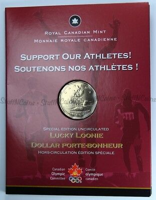 2004 Special Edition Olympic Lucky Loonie $1 - First Day Strike