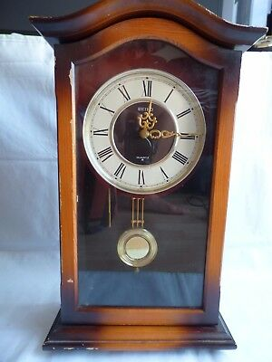 Vintage SEIKO JAPAN Retro Striking Chime Wall Clock PQ-801 B-1 Pendulum Striking