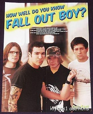Fall Out Boy Poster Magazine Centerfold 615A Pharrell on the back