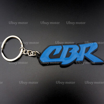 Keychain Key Ring Rubber Motorcycle Cool Gift Collectible For Honda CBR RR Wing