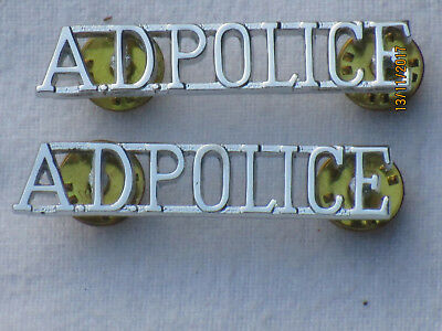 ADPOLICE,Army Depot Police Cyprus,Schultertitel,Anodised Aluminium Staybright