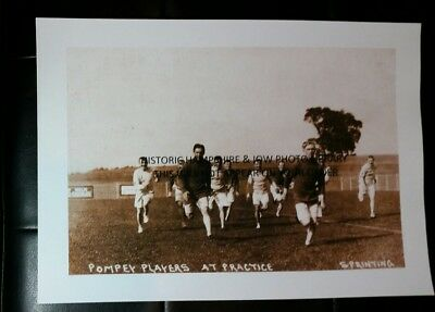 A4 PHOTOPRINT OF A PORTSMOUTH  FOOTBALL CLUB POSTCARD DATED c.1907