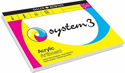Daler Rowney System 3 Acrylic Painting Canvas Paper Art Boards A3 or A4