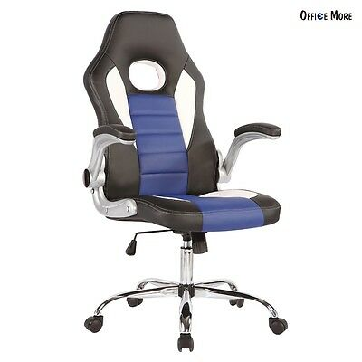 Executive Swivel Office Chair High Back PU Leather Computer Desk Task Ergonomic