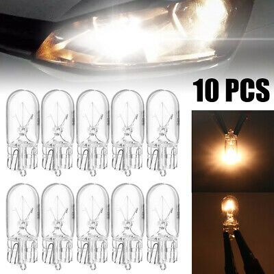 10pcs T10 194 168 W5W 5W Car Halogen Signal Interior Light Lamp Bulbs Warm White