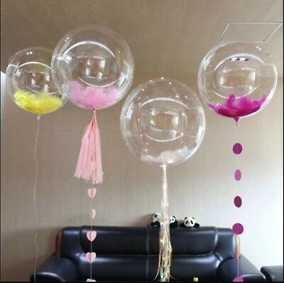 """100 Round Clear Transparent balloons 10"""" - 36"""" inch Big Giant birthday Balloons"""
