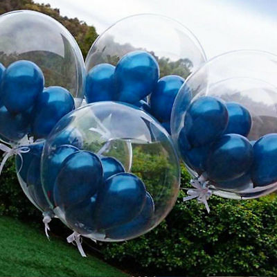 100 Round Clear Transparent balloons Big Giant birthday Wedding Balloons baloons