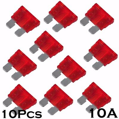 10pcs 10A Color Coded Standard ATO/ATC Blade Fuse for most Auto Car Truck