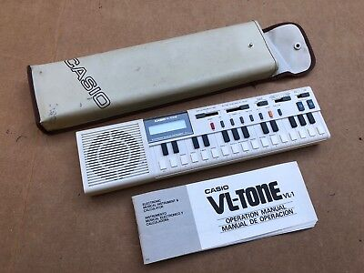 Casio Vl-Tone A/c Battery Operated 1981 Keyboard Synthesizer Calculator Recorder