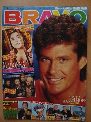 BRAVO 13 1989 MADONNA Depeche Mode Rick Astley Holly Johnson Patrick Swayze Bros