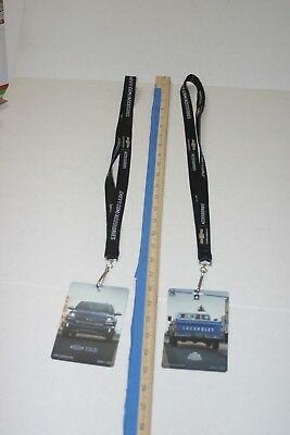 TWO Chevy trucks 100 years 2017 SEMA lanyard, card badge holdeR