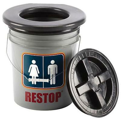 Restop Commode - Sturdy, Top-Locking Base Holding A Full-Size Folding Toilet