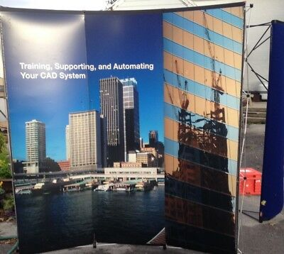 Nomadic Display Trade Show Pop Up Displays 2 Backdrops 1 Stand 3 Cases