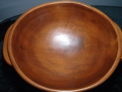Vintage....Large Oblong......Wooden....Handled....Footed....Bowl