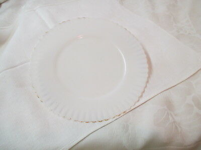 Vintage Depression Glass Macbeth Evans white Salad Dessert Plate Petalware