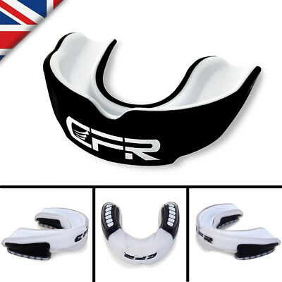 CFR Air Gel Gum Shield Mouth Guard Boxing MMA Adult Rugby Teeth ProtectBlack PT