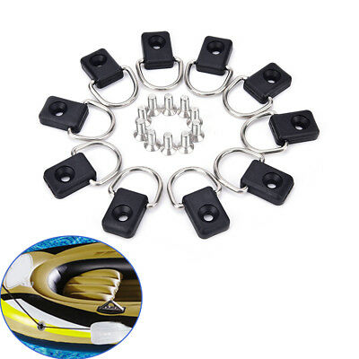 10X Canoe kayak D ring outfitting fishing rigging bungee kit accessory Deck Fit(