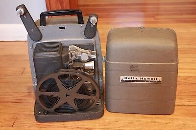 Vintage Bell & Howell Autoload  8mm  Movie Projector Model 245 A Works