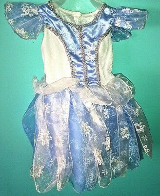 Frozen Inspired Princess Girls Size 2T Dress Up Holiday Costume Dress Cosplay