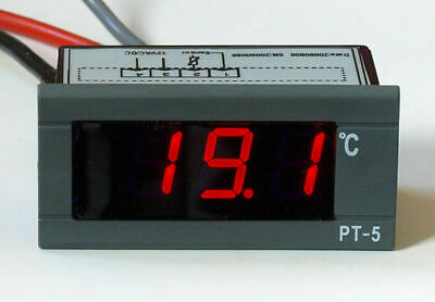 LED Thermometer digital -30 +100°C 12V Digitalthermometer Einbauthermometer