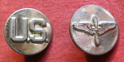Ww2 Wwii Usaaf Army Air Force Enlisted Collar Disc Set