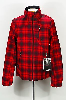 SPYDER FRESH AIR NOVELTY SOFTSHELL JACKET 122025 627 RED PLAID (msrp: $159)
