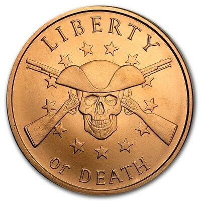 1 oz Copper Round - Liberty or Death